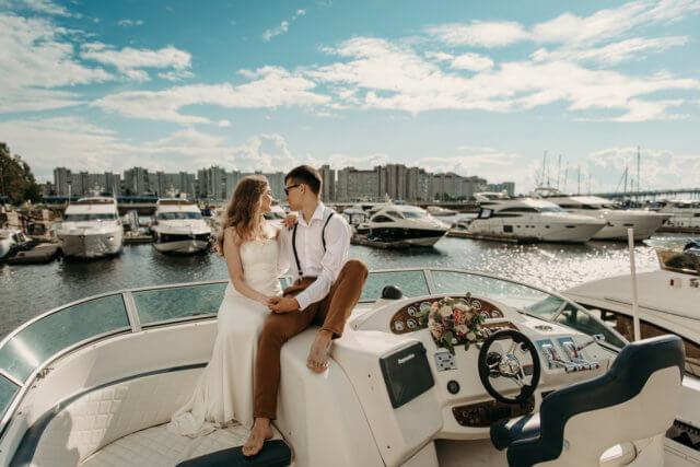 Особенности аренды и оформления катера на свадьбу